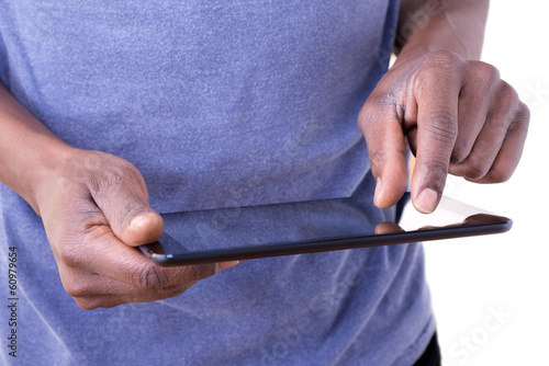 Man using tablet