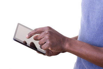 Man using tablet