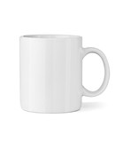 white coffee cup mug - 60981048