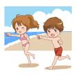 子供/海水浴