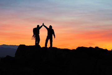 birlik beraberlik&zirve başarısı kutlamak