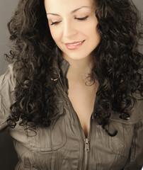 Curly black hair