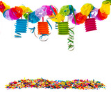 party with confetti and paper chain