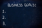 empty list of business goals
