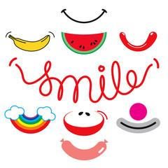 Creative smiles set.