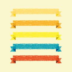 vector set of ribbons