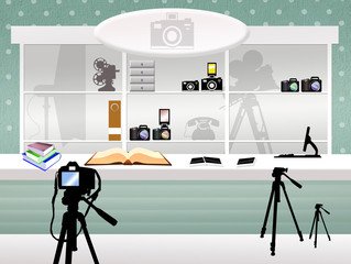 illustration of shop of photography