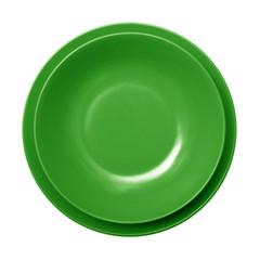 piatto verde vuoto