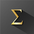 """SIGMA"" Symbol (mathematics science greek letter icon pi number)"