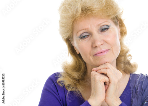 Middle-aged woman in a state of sadness