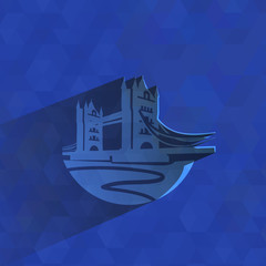 Tower Bridge. Vector format