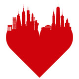 New York love heart. I love New York.
