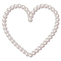 Perlen Rahmen Herz