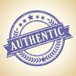Authentic retro stamp