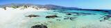 Fototapeta Elafonissi beach, white sand and turquoise water, Crete, Greece
