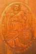 Carved relief of Saint Mark as clannish patron from wine cellar