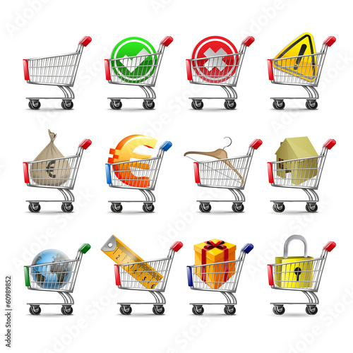 carts icons for web