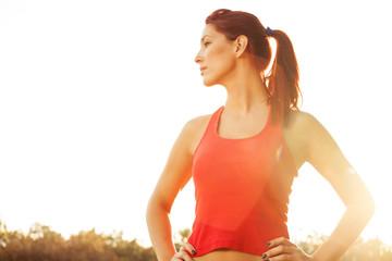 female runner in the park