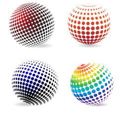 Color halftone circles .