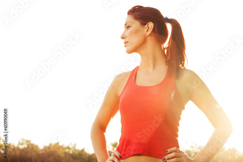 female runner in the park