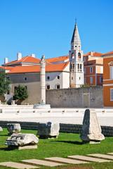 Agora und Kirche in Zadar
