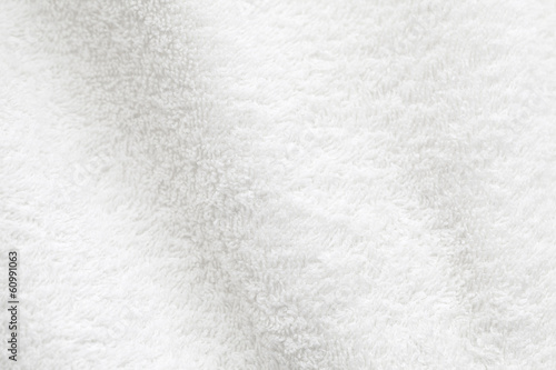 Fotobehang Stof White cotton towel close up background photo texture