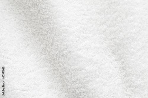 Tuinposter Stof White cotton towel close up background photo texture
