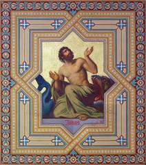 Vienna - Fresco of prophet Jonah