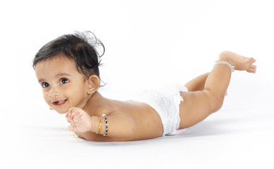 Indian cute baby with expression