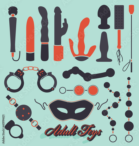 Vector Set: Adult Sex Toys Silhouettes