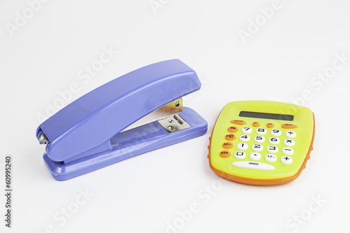Calculator and office stapler
