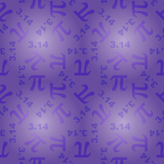seamless pattern with number pi