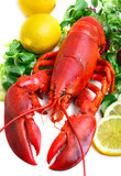 .boiled lobster