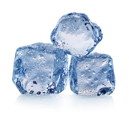 Three pieces of ice