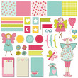 Scrapbook Design Elements - Baby, Birthday, Party Set