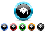 graduation icon vector set