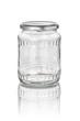 freigestelltes Konservenglas mit Facetten