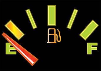 Fuel gauge glawing vector