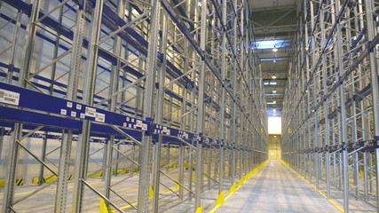 new modern warehouse rack