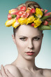 beauty spring female portrait
