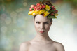 woman in spring beauty portrait