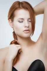 Glamour redhead