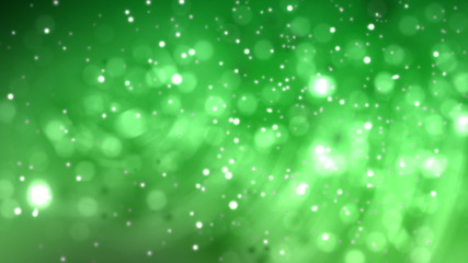 Green background. Abstract background with motion particles