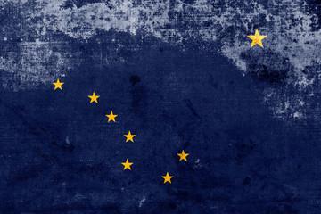Grunge Alaska State Flag