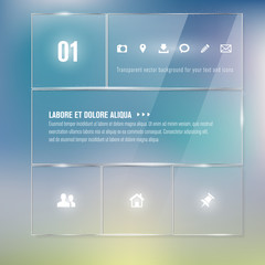 Glass frames - infographics template