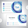 Universal fresh blue whirlpool business card.