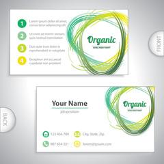 Universal organic green whirlpool business card.