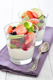 Yogurt and fresh berries