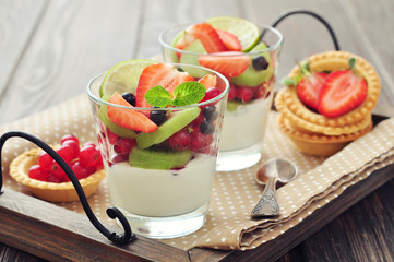 Yogurt and fresh berries