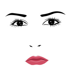 Tearful or angry woman face vector